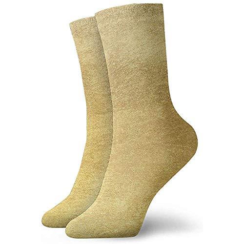 Be-ryl Calcetines Deportivos para el Tobillo para Mujer Calcetines con Fondo Dorado o Textura y degradados Calcetín de Entrenamiento Que Absorbe la Sombra