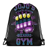 JoJo's Bizarre Kujo Jotaro- Bolsa de deporte con cordón, bolsa ligera para hacer hicking, compras, viajes, deportes