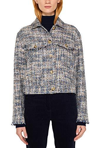 ESPRIT Collection Damen 109EO1G023 Jacke, Blau (Navy 400), X-Small (Herstellergröße: XS)
