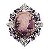 Sticks Jewelry – Broche camée classique style rétro «Reine de Beauté»