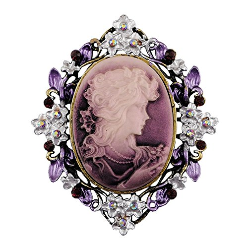 sticks jewelry Classic Vintage Style Retro Cameo Beauty Queen Head Brooch