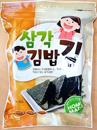 Samgak Gimbap 50 hojas/Onigiri 50 unidades/Triangle-sharped dried seaweed sheets 50 g (50 unidades) con pegatinas/pegatinas