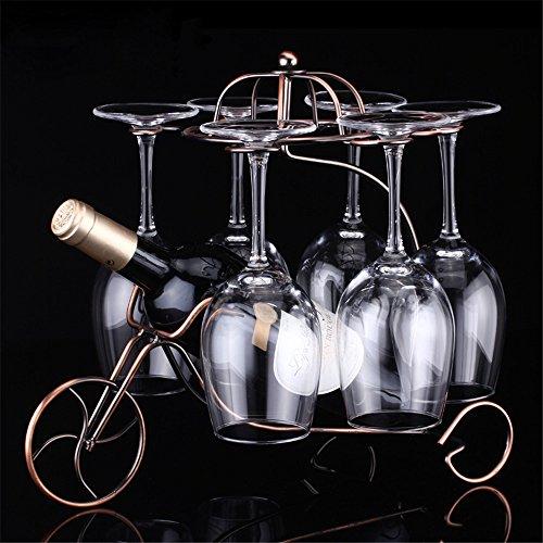 LL-COEUR Porte-Bouteille Décoration Casier à Vin Original Support pour Bouteille Forme Tricycle Idée Cadeau (330 x 240 x 320 mm, Bronze)