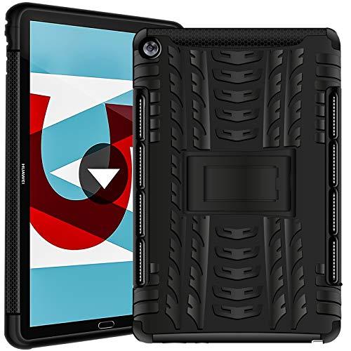 Verco Hülle für Huawei Mediapad M5 / M5 Pro 10.8, Outdoor Schutzhülle Armor Tablet Case Cover, Schwarz