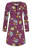 Ringella Bloomy Damen Nachthemd mit Knopfleiste Rosenholz 46 0551003, Rosenholz, 46