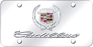 Au-Tomotive Gold, INC. Cadillac Front License Plate Frame Logo on Mirror Stainless Steel - Genuine Product