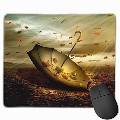 Glatte Mauspad, Herbst Regenschirm Ahorn Mobile Gaming Mousepad Arbeit Mauspad Office Pad