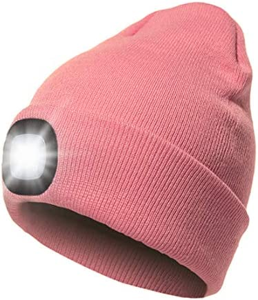 Hat with Light USB Rechargeable LED Beanie hat Winter Warm Gifts for Men Dad Him Women Her Unisex product image