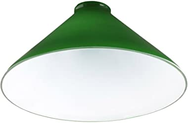 Upgradelights 10 Inch Green Glass Cased Lamp with 2 and 1/4 Inch Fitter