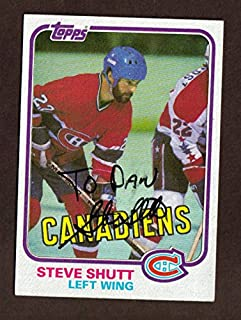1981 TOPPS #34 STEVE SHUTT CANADIENS SIGNED JSA AUTO