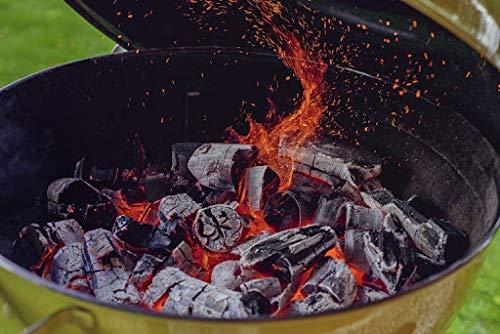 Marienburg Organic Restaurant Grade Lumpwood BBQ Charcoal for Barbecues and Pizza Ovens, 50L