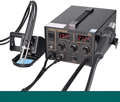 Soldering Iron Station Solder Hot Air Station Digital Adjustable Temperature