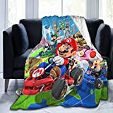 Kaopey Mario Throw Blanket Super Soft Ultra Comfort Blanket for Couch Bed Travel Four Seasons Blanket