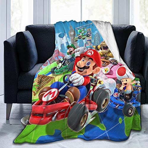 Kaopey Mario Throw Blanket Super Soft Ultra Comfort Blanket...