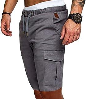 lexiart Mens Fashion Sports Short Pants - Mens Solid Color Jogger Cargo Pants Sweatpants Trousers Short Pants
