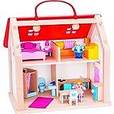 Goki 51780 - Koffer Puppenhaus mit Zubehör