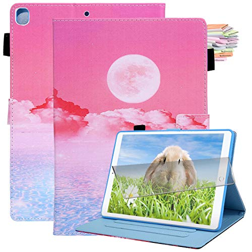 Billionn iPad 10.2 Case 2020 iPad 8th Generation Case / 2019 iPad 7th Generation Case, with Pencil Holder, Auto Sleep/Wake, Screen Protector, Sunrise
