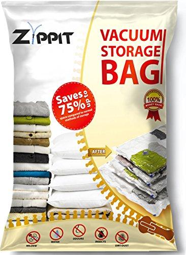 Sacchetti salvaspazio da Zippit, extra large 100x 80cm Space Savers. Migliore per abiti, lenzuola, piumini, asciugamani, tende e altro ancora. 6pezzi.