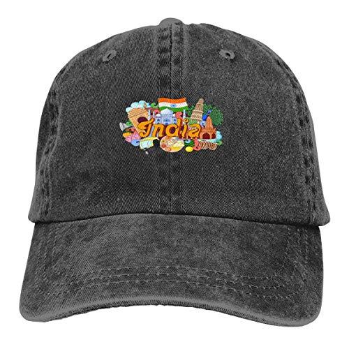 Gorra de béisbol unisex con diseño de hoja de loto, con logotipo de dibujos animados