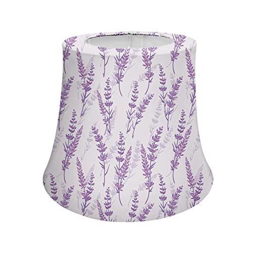 Pensura Purple Lavender Flower Style Lamp Shade Bedroom Lamps Covers for Women Gifts,Modern Trendy Decorative Handmade Lampshade for Dining Room Living Room Bedroom Study Nightstand Dresser