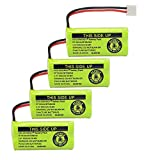 GEILIENERGY 2.4V Rechargeable Batteries Compatible with AT&T/Lucent BT18433 BT184342 BT-18433 BT-184342 BT-28433 BT-284342 BT-1011 BT-6010 BT-8000 BT-8001 BT-8300 Empire CPH-515D CPH515D(Pack of 4)