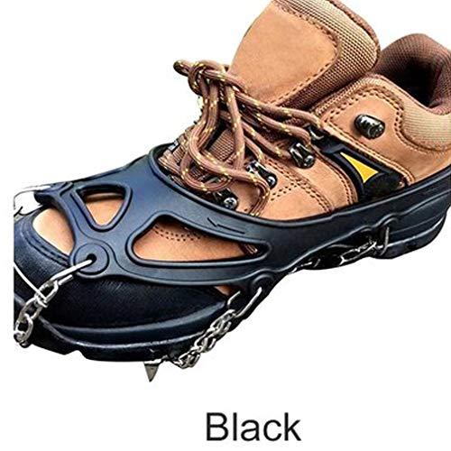Antideslizante crampones Escalada Mini Spikes Calzado Hielo tracción Segura Proteger del Caminar Correr Senderismo en la Nieve Ice 19 Dientes