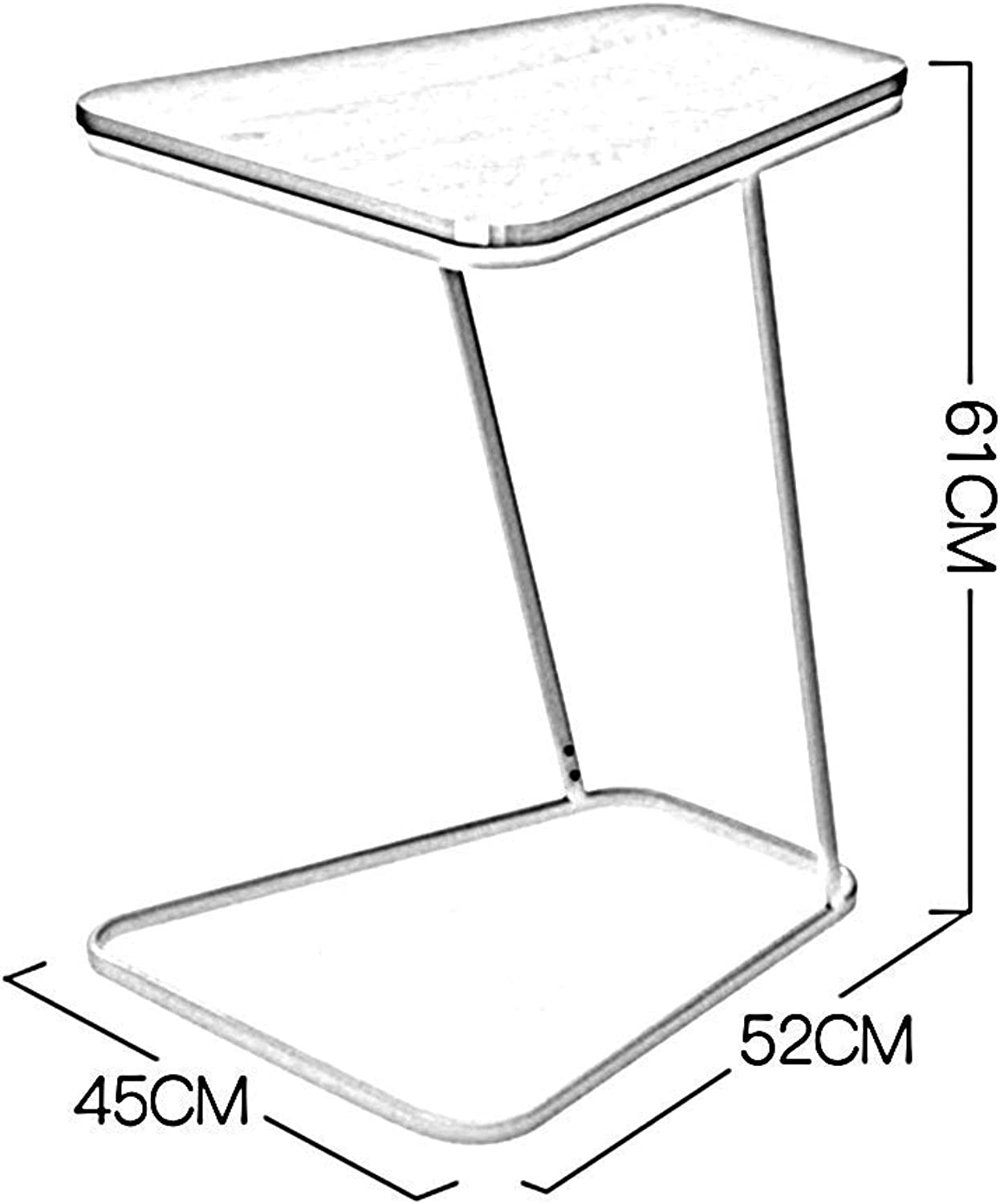 SED Multifunction Small Table Household Snack Home Glass Wood Top Metal Frame Sofa Side End C Shaped Bedroom Simple Study Table