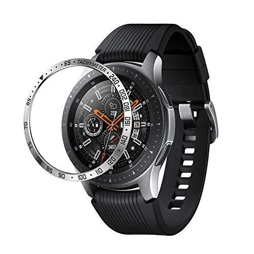 Aottom Kompatibel mit Lünette für Samsung Gear S3 Frontier Schutz Edelstahl Hülle Galaxy Watch 46mm Lünette,Schutzhülle Smartwatch Gear S3 Classic Metall Hülle Bezel Ring Lünette für Gear S3 Zubehör