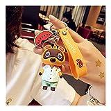 Llaveros Animal Crossing Hijo coche de la muñeca llavero de Corea mujeres de los hombres de los amantes llavero colgante llavero Pequeño interruptor lindo regalo de los accesorios Accesorios