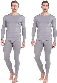 Thermal Underwear for Men Long Johns Set Fleece Lined Winter Base Layer 2 Pack
