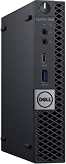 Dell OptiPlex 7060 Micro Form Factor (MFF) Micro-Tower Business Desktop PC, Intel i7-8700T, Crucial 16GB 2666Mhz RAM, Intel PCIe Nvme 512GB SSD, Display Port, Wireless LAN, Ethernet, USB C, Win10 Pro