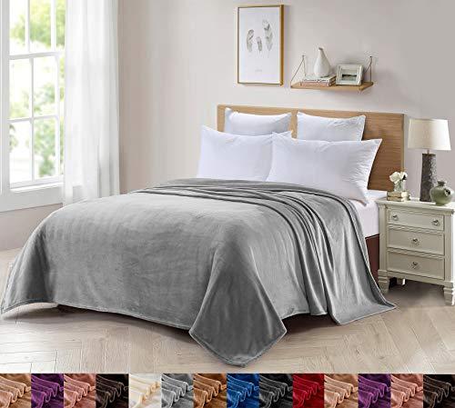 Foren Tex Manta para sofá y Cama de Franela (L-3097) 300GMS Sin Pelusas No Suelta Pelo Tacto Suave y Cálida Varios Tamaños y Colores (180x220cm)