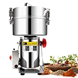 CGOLDENWALL 2000g Commercial electric stainless steel grain grinder mill Spice...