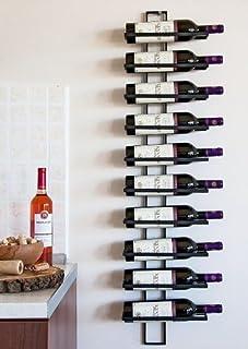 DanDiBo Casier à vin Etagère Murale Dies 116cm en métal pour 10 Bouteilles Porte-Bouteilles Porte-Bouteilles 11699