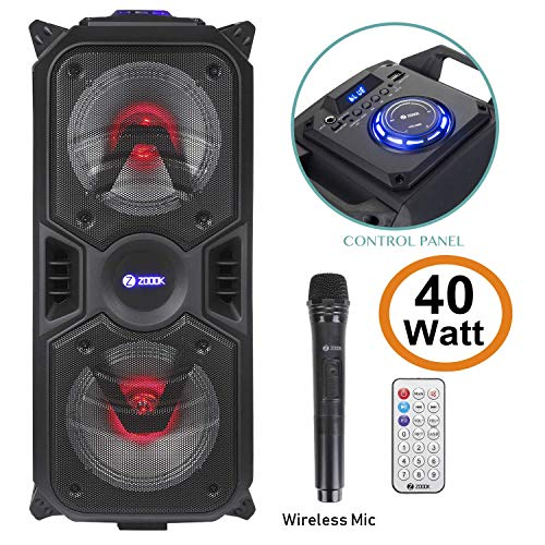 (Renewed) Zoook Rocker Thunder Plus 40 watts Karaoke Bluetooth Speaker with Remote...