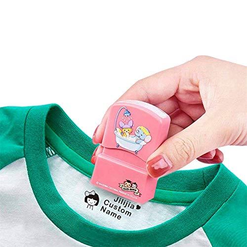 Timbro personalizzato per vestiti, firma, timbro personalizzato autoinchiostrante, timbro personalizzato, 27 disegni esclusivi tra cui scegliere, pennarello per abbigliamento per bambini