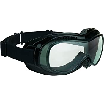 Over Glasses Motorcycle Goggles Clear with Safety Polycarbonate Lenses. Extra Large Microfiber Cleaning Case Included.