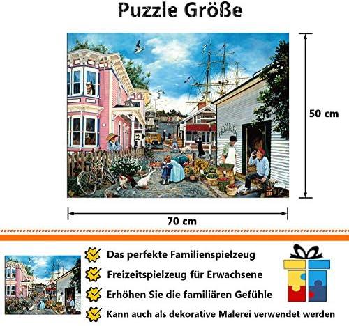 SHHII 500 Teile Erwachsenen Puzzle hoher Schwierigkeitsgrad Dekompressionspuzzle Landschaft /Ölgem/älde Tier Kinder Puzzle Spielzeug-Cinque Terre