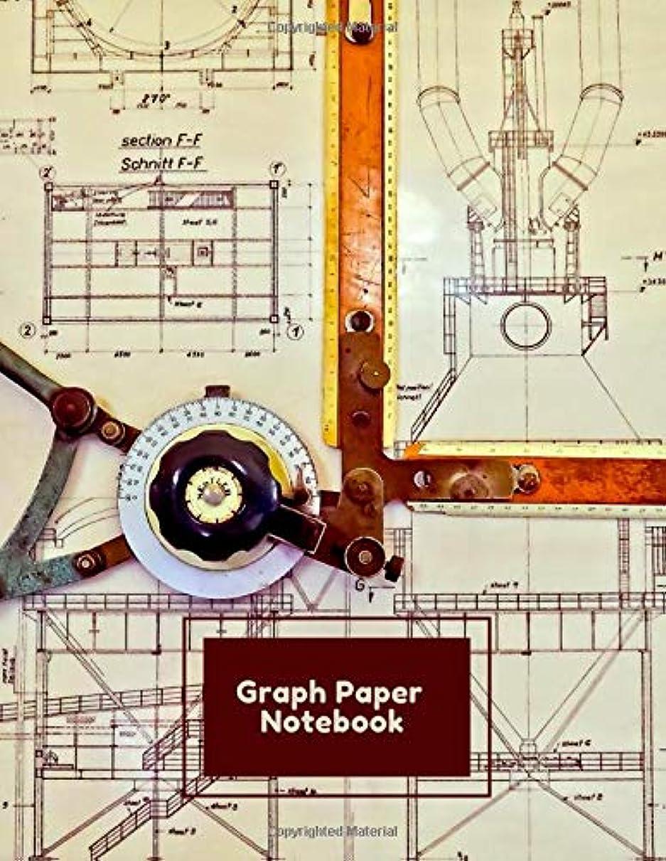 舌な日光不承認Graph Paper Notebook: Architecture Plans Tools City  Buildings Drawings Designs Themed Notebook - 5 x 5 Graph Paper - 120 Pages (60 Sheets) - 8.5