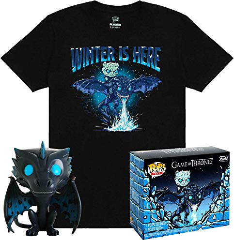 Game of Thrones POP! & Tee Box Icy Viserion heo Exclusive Size L