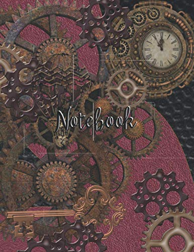 Notebook: Steampunk Notebook Journal With Lined Interior Gears Detail for Diary Planner Writing Note Book