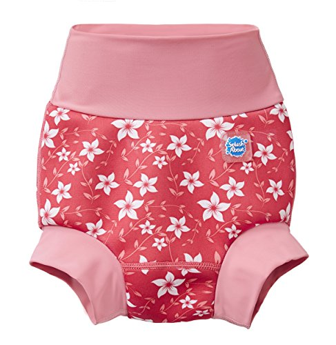 Splash About Happy Nappy Pañal de Baño Reutilizable - Pink Blossom 2-3 Años