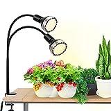 Bozily 300W Pflanzenlampe, Vollspektrum-LED-Wachstumslampe Grow Lampe f¨¹r Zimmerpflanzen, 4 Dimmbare Sonnen?hnliche Pflanzenlichter, 2 Austauschbare Gl¨¹hbirnen, K¨¹nstliche Sonnenlichtlampe