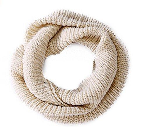 Unisexe hiver Loop Écharpe en tricot bc1124 Cache-col for Femme Fille Keep Collier chaud, beige