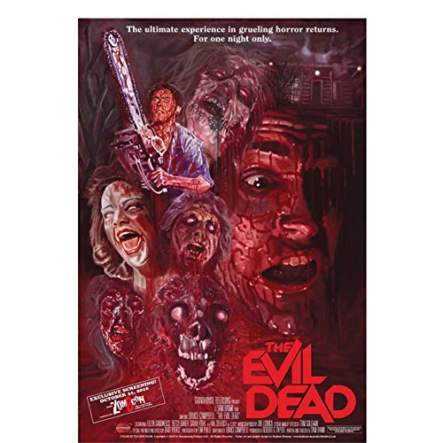 Dubdubdcarteles E Impresiones Evil Dead (1981) Movie Horror Gore Classic Film Art Poster Canvas Painting Home Decor 20X28 In Sin Marco