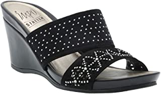 1c4657c60bc9 Impo Verna Laser-Cut Stretch Wedge Sandal with Memory Foam