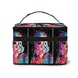 Bolsa de maquillaje, Star Wars Soldado de viaje, bolsa de cosméticos portátil grande bolsa de malla organizador de brochas de tocador para mujeres y niñas