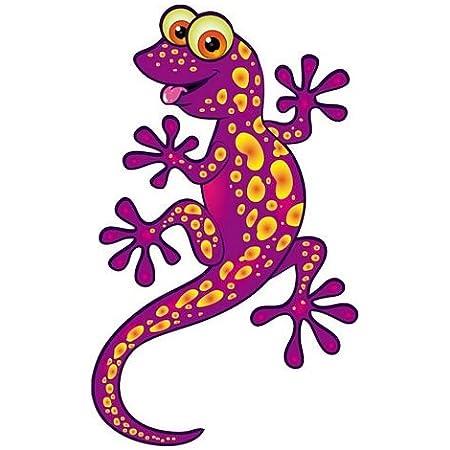 Fahnenmax Autoaufkleber Sticker Lizard Eidechse Gecko Lila Aufkleber Auto