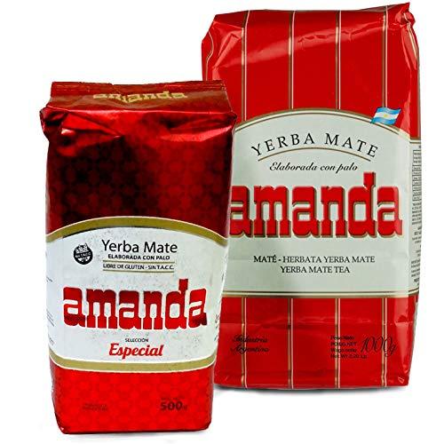 Juego de té Yerba Mate Amanda Tradial 1 kg + Amanda Seleccion...