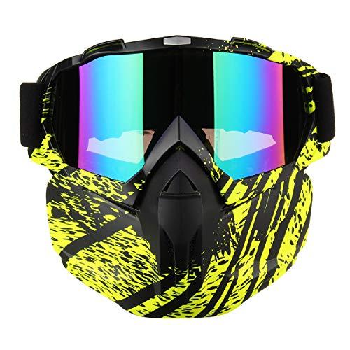 YONGYAO Noleggio Full Face Mask Occhiali Motocross Motocross Ciclismo Outdoor-2
